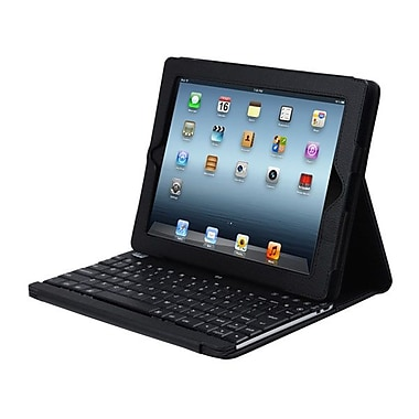 Adesso® Compagno™ 3 Bluetooth 3.0 Scissor Switch Keyboard With Carrying Case For iPad, Black