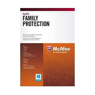McAfee® MFE 3 Piece Family Protection 2014 Software