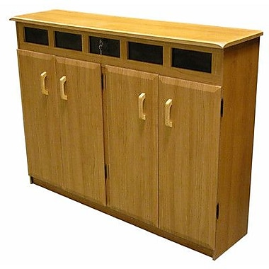 Venture Horizon VHZ Entertainment Top Load Multimedia Cabinet; Black & Oak