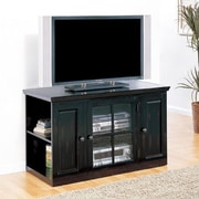 Leick Riley Holliday 42'' TV Stand; Distressed Black Rubbed