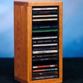 Wood Shed 100 Series 20 CD Dowel Multimedia Tabletop Storage Rack; Unfinished