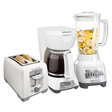 Proctor-Silex Bundle - Blender, Coffee Pot, and Toaster; White