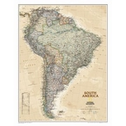 National Geographic Maps South America Executive Wall Map; Laminated