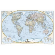 National Geographic Maps NGS 125th Anniversary World Map; Laminated