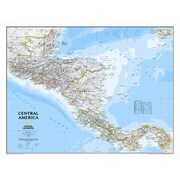 National Geographic Maps Central America Classic Wall Map; Laminated (22'' x 29'')