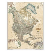 National Geographic Maps North America Executive Wall Map; Laminated