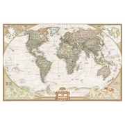National Geographic Maps World Executive Wall Map; Enlarged Size (48'' x 73'') - Laminated