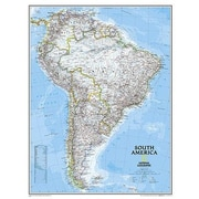 National Geographic Maps South America Classic Wall Map; Enlarged and Laminated (36'' x 46'')