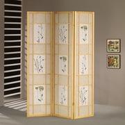 Wildon Home   70'' x 54'' Shoji 3 Wood 10.6'' x 10.6'' Room DividerPanel Room Divider