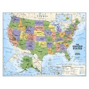 National Geographic Maps Kids Political USA Wall Map (Grades 4-12)