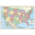 Universal Map Rolled Map - Laminated; United States