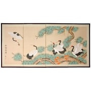 Oriental Furniture 36'' x 72'' Homeward Bound 4 Panel Room Divider