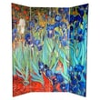 Oriental Furniture 6 Feet Tall Double Sided Works of Van Gogh Canvas Room Divider