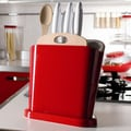 Omada Trendy 5 Piece Knife Block Set; Red Ruby