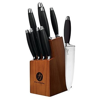 Ginsu Chikara Comfort Grip Series 10 Piece Cutlery Block Set