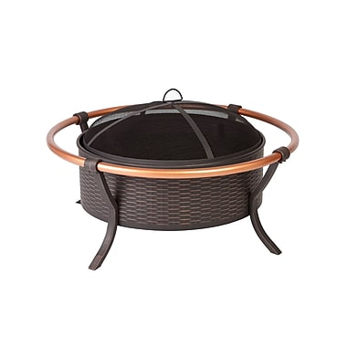 Fire Sense® Copper Rail Fire Pit, Antique Bronze
