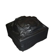 "Fire Sense® 28"" x 38"" x 38"" Vinyl Cover For Outdoor Square Fire Pit, Black"