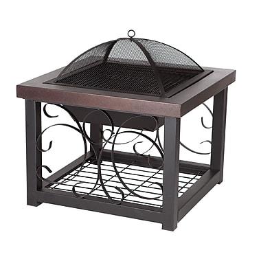 Fire Sense® Cocktail Table Fire Pit, Hammer Tone Bronze