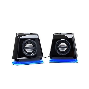 GOgroove BassPULSE 2MX USB Powered 2.0 Channel Computer Speakers