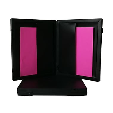 JAM Paper® Two Pocket Portfolio with Snap Closure, 11 x 13 x 1.5, Black, Sold Individually (6128 027)