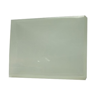 JAM Paper® Big Portfolio with Tuck Flap Closure, 10 x 13.5 x 1.75, Clear, 4/Pack (52530CLBULKg)
