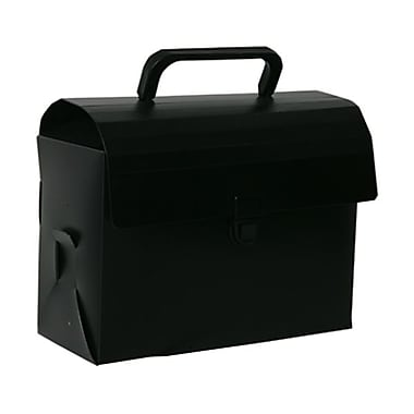 JAM Paper® Reusable Plastic Lunch Box, 6 x 9 x 4, Black, Sold Individually (5205 027)