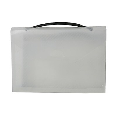 JAM Paper Plastic Lunch Box Mini 8 1 4 x 5 1 2 x 1 3 4 Clear Sold Individually 340567