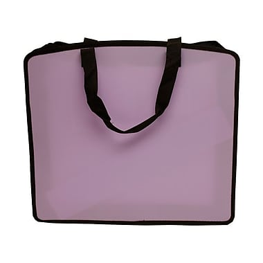 JAM Paper® Art Portfolio Case, 15 x 18 x 3, Light Purple, 2/Pack (79814714g)
