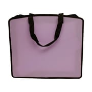 "JAM Paper® 15"" x 18"" x 3"" Art Portfolio Case, Light Purple, Sold Individually"