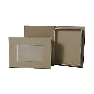 JAM Paper® Photo Box, 6 x 8 x 1, Brown Kraft, Sold Individually (9027 201)