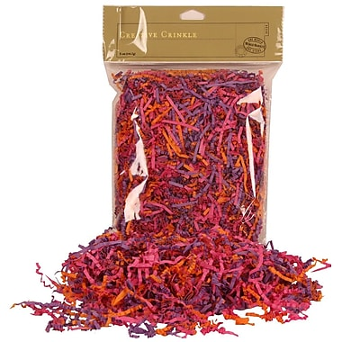 JAM Paper® Shred Tissue Paper Krinkeleen, 2 oz., Pink/Purple/Orange Mix, 5/Pack (11924298g)