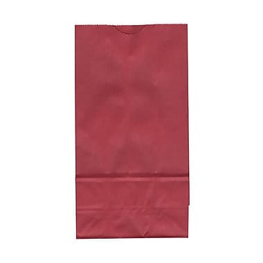 JAM Paper® Kraft Lunch Bags, Small, 4.125 x 8 x 2.25, Red. 25/pack