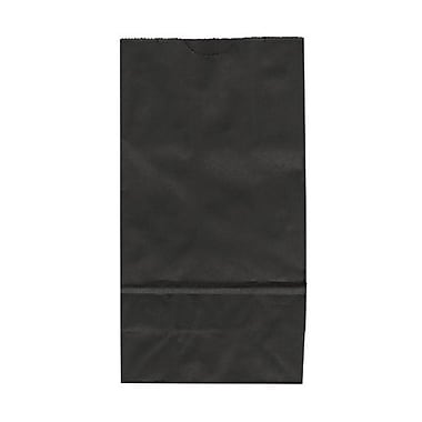 JAM Paper® Kraft Lunch Bags, Small, 4.125 x 8 x 2.25, Black, 25/pack (690KRBL)