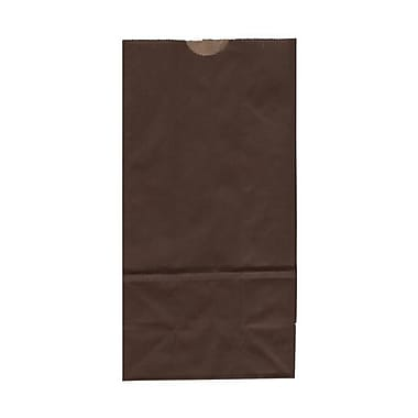 JAM Paper® Kraft Lunch Bags, Medium, 5 x 9.75 x 3, Chocolate Brown, 500/Pack (691KRCHBRB)