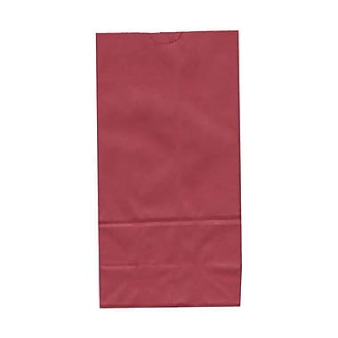 JAM Paper® Kraft Lunch Bags, Medium, 5 x 9.75 x 3, Red, 500/Pack (691KRREB)
