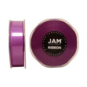 """JAM Paper® 7/8"""" x 25 yds. Double Faced Satin Ribbon, Purple, Sold Individually"""