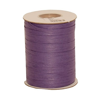 JAM Paper® Wraffia Ribbon, 200 Yards per spool, Purple, Sold Individually (CO23527)