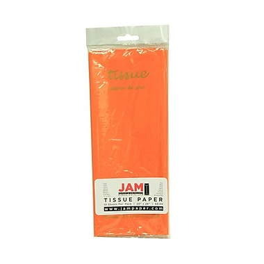 JAM Paper® 20in. x 26in. Smooth Regular Tissue Paper, Orange, 10/Pack