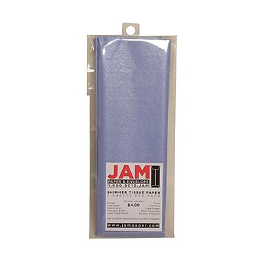 JAM Paper® Shimmer Tissue Paper, Lilac Purple Metallic, 3/Pack (211616465)