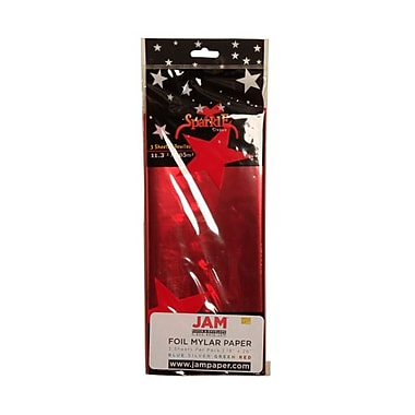 JAM Paper® Tissue Paper, Red, 15/Pack (1172415g)