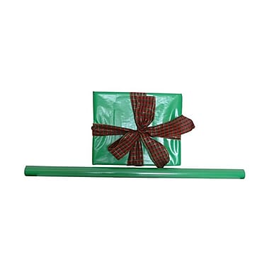 JAM Paper® Solid Gift Wrapping Paper, 12.5 sq. ft., Glossy Green, Sold Individually (7706348)
