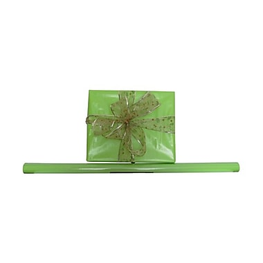JAM Paper® Solid Gift Wrapping Paper, 12.5 sq. ft., Glossy Lime Green, 5/Pack (7706821g)