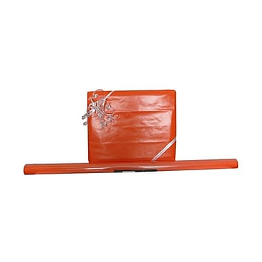 JAM Paper® Solid Gift Wrapping Paper, 12.5 sq. ft., Glossy Orange, 5/Pack (27705941g)