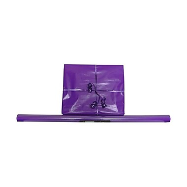 JAM Paper® Solid Gift Wrapping Paper, 12.5 sq. ft., Glossy Purple, 5/Pack (37706867g)