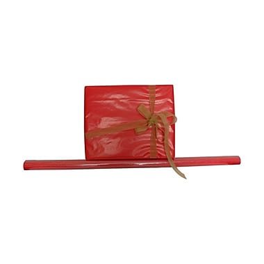 JAM Paper® Solid Gift Wrapping Paper, 12.5 sq. ft., Glossy Red, Sold Individually (27705943)