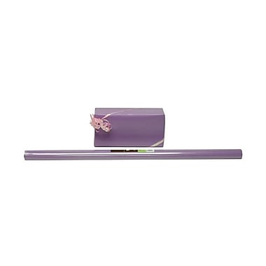 JAM Paper® Solid Gift Wrapping Paper, 12.5 sq. ft., Glossy Lilac Purple, Sold Individually (277013457)