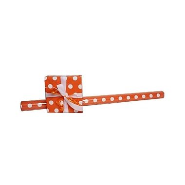 JAM Paper® Polka Dot Gift Wrapping Paper, Jumbo 40 sq. ft., Orange with White Dots, 3/Pack (2226416995g)