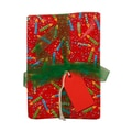 JAM Paper® 15 sq ft Birthday Candies Wrapping Paper, Red