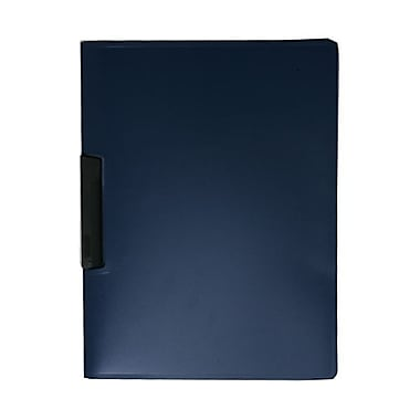 JAM PaperMD – Couverture de rapport avec pince latérale, bleu intense, 10/paquet