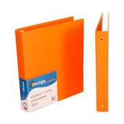 JAM Paper Designders 1-Inch Standard Round 3-Ring Binder, Orange (751Lor)
